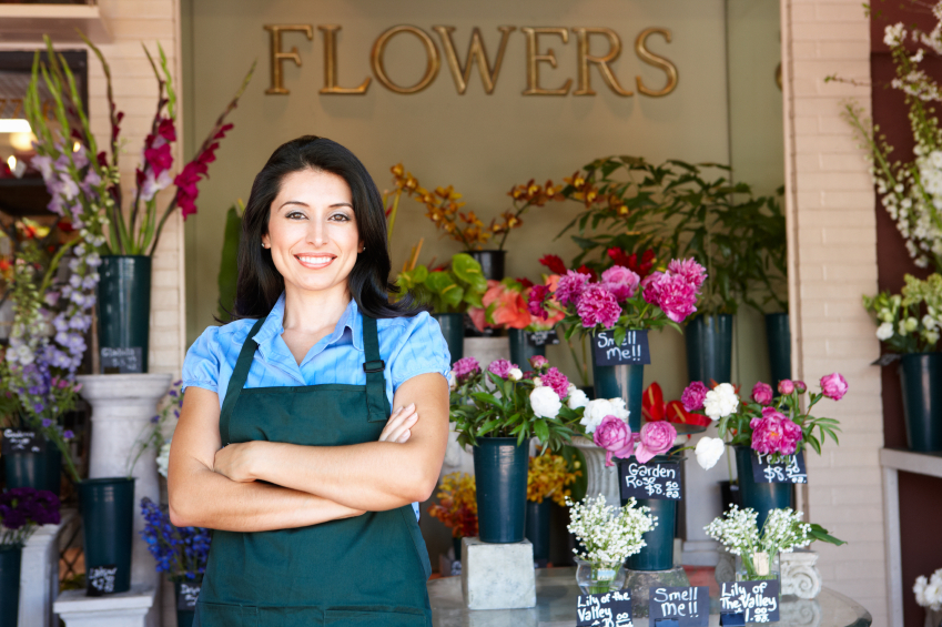 Витрины цветочного салона