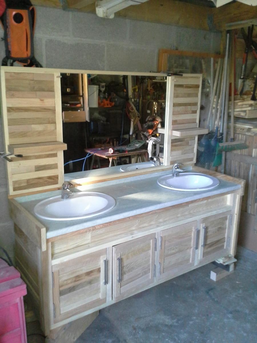 double vasque sdb recyclé avec bois de palette