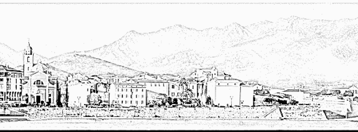 Corquis, Paysage de la ville d'Ajaccio, Corse