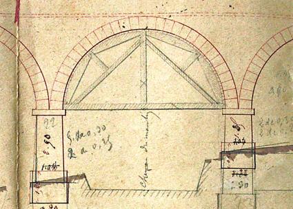 canal de la gravona, croquis construction