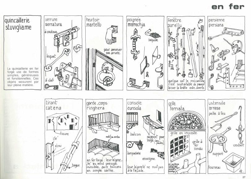 architecture corse, fer, fer forgé, maison