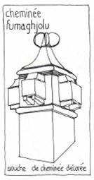 souche de cheminée, maison corse, architecture typique