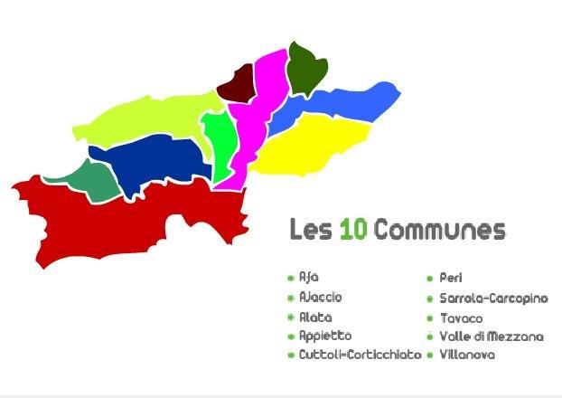 Carte des communes de la CAPA