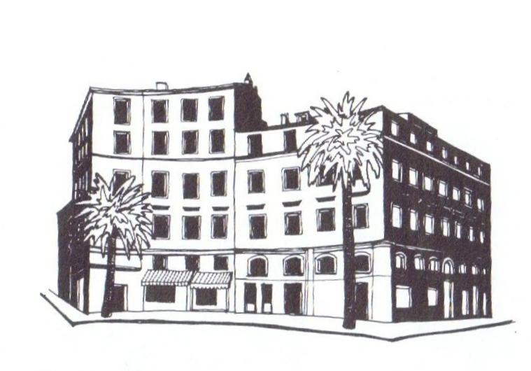 croquis immeuble place des palmiers, ajaccio, Corse