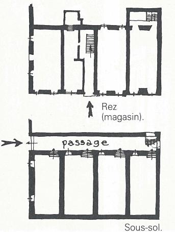 plan immeuble collectif ancien, ajaccio, corse