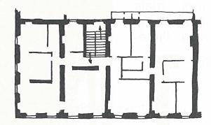 plan étage, immeuble collectif ancien, ajjaccio, corse