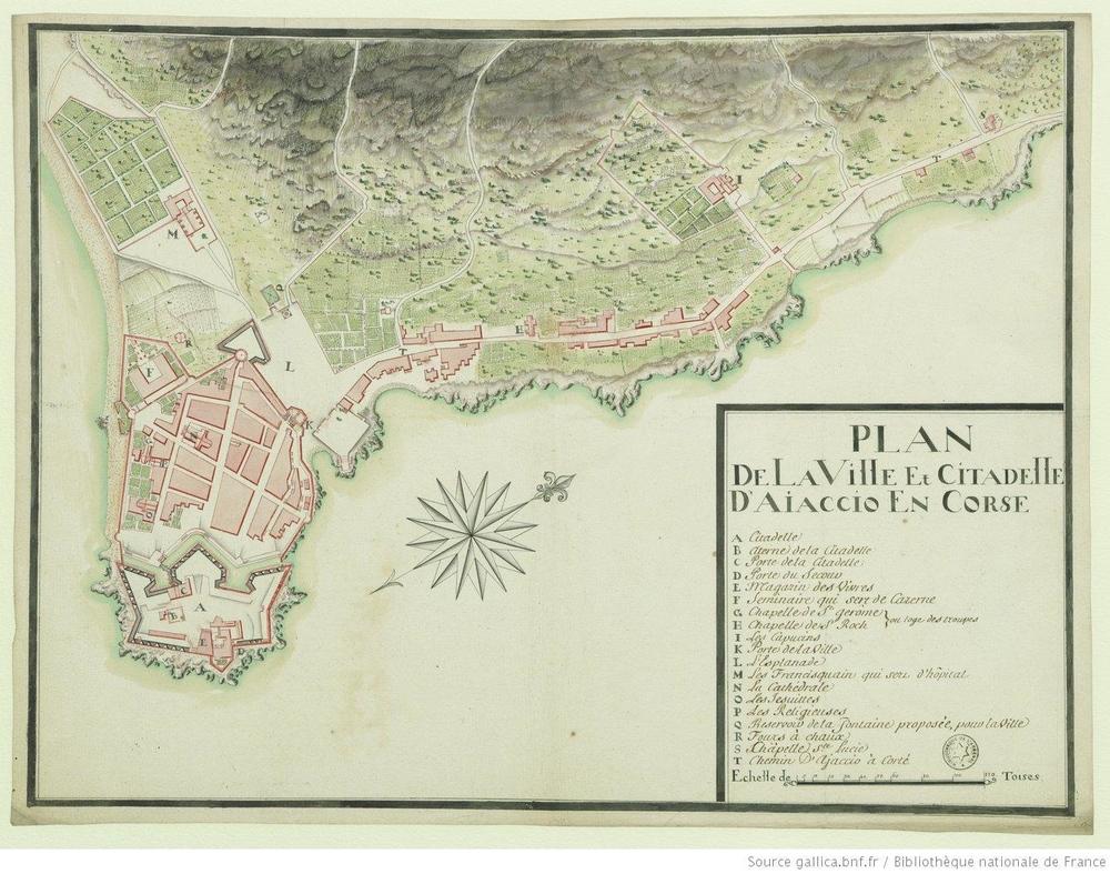 carte ajaccio 1787