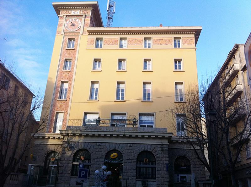 bâtiment de La Poste, ajaccio