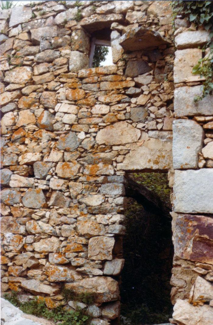 ruine, porche, pierre, maison, alata, corse