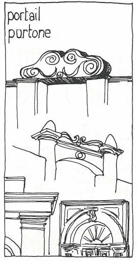 portail, porte, croquis, corse