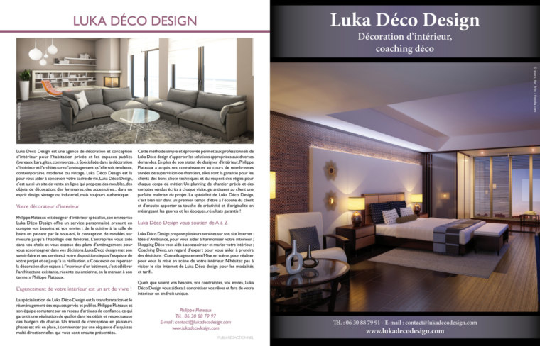 luka deco design vu dans la presse et maison et objets. Black Bedroom Furniture Sets. Home Design Ideas