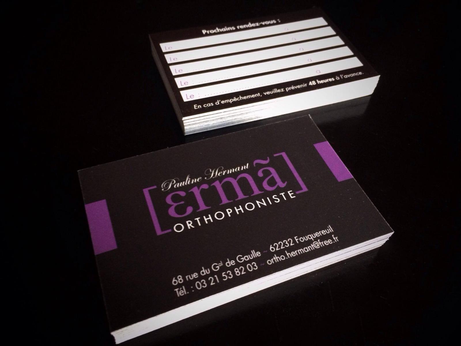 Pauline HERMANT Orthophoniste Carte De Visite