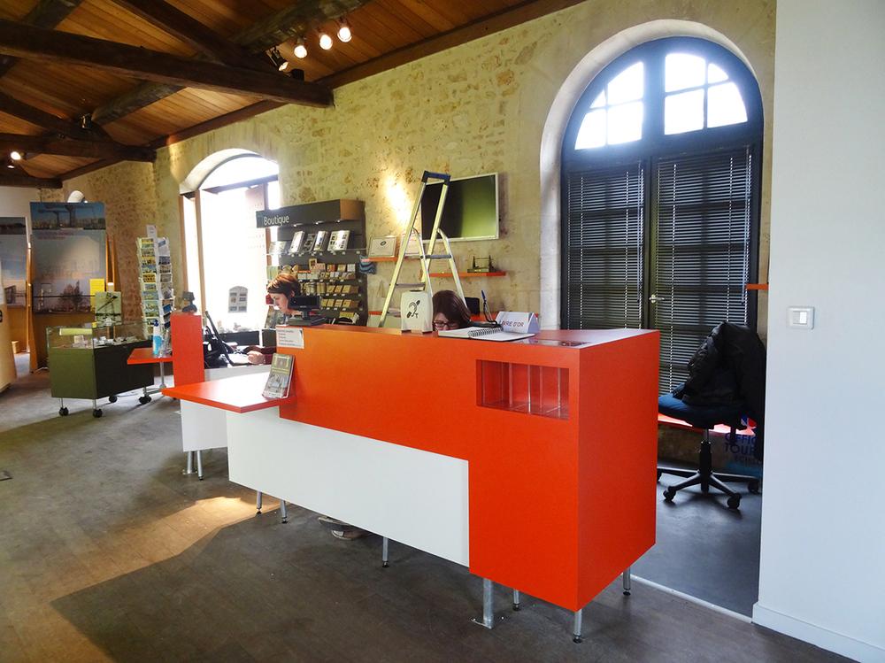 Réaménagement de l'accueil de la Maison du Transbordeur/OT d'Echillais - mandataire, cotraitance avec Optim'A - (Echillais 17) 2015