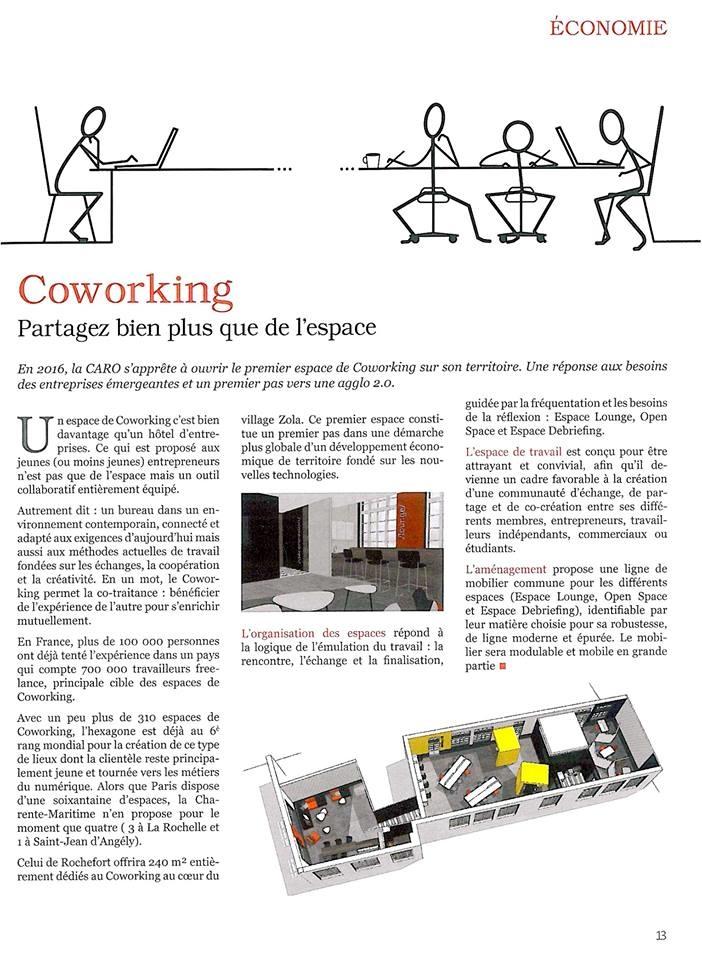 parution dans le MAG de la Communauté d'Agglomération Rochefort Océan - décembre 2015