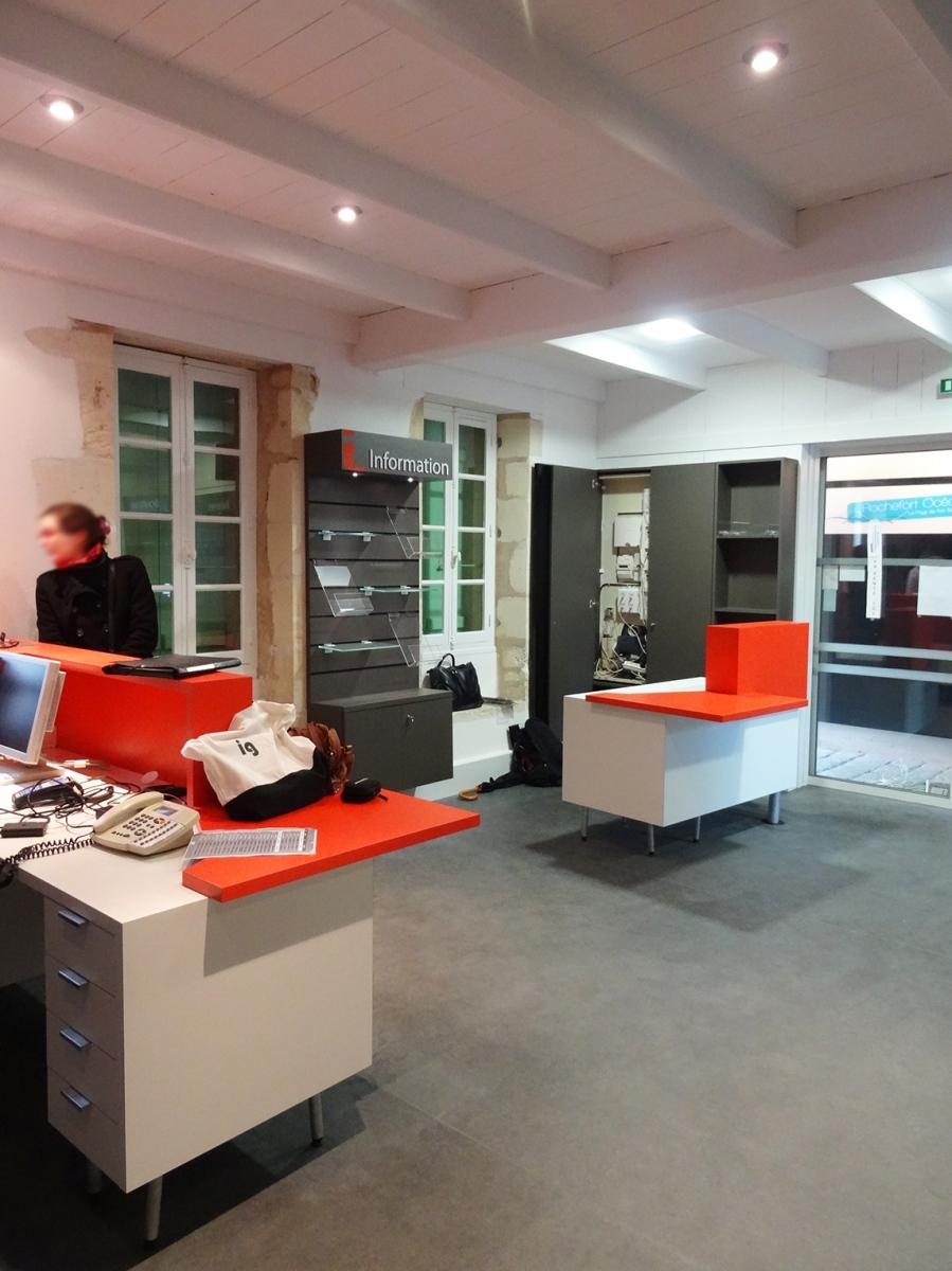 Réaménagement de l'accueil de l'Office de Tourisme/La Poste de l'Ile d'Aix - mandataire, cotraitance avec Optim'A - (Ile d'Aix 17) 2015