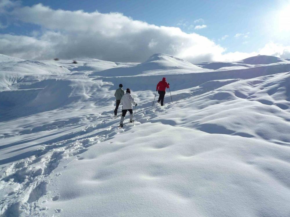 radonnée raquettes à neige fabrice testud accompagnateur en montagne haute savoie igloo fondue nocturne scolaires raquettes à neige