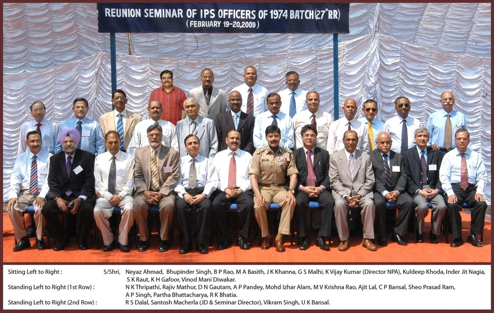 Re-Union - IPS 1974 Batch