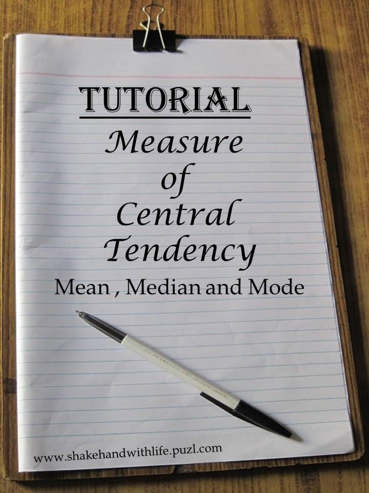 Measure of Central Tendency (Mean, Median, Mode) PDF Tuto