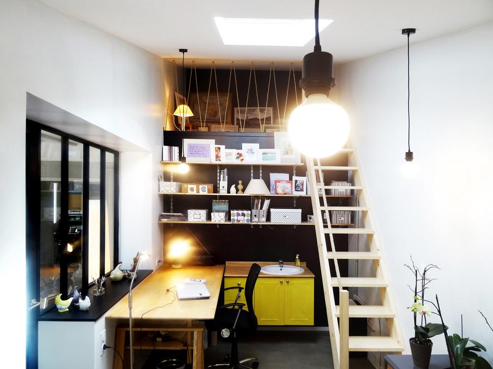 Tranformation d'une arrière cuisine en atelier - Angoulins/Mer (17) 2016