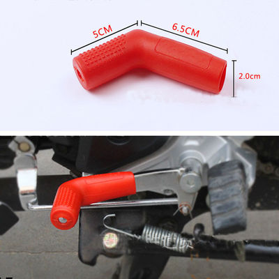 Red universal motorcycle gear font b shift b font font b lever b font silicone protective