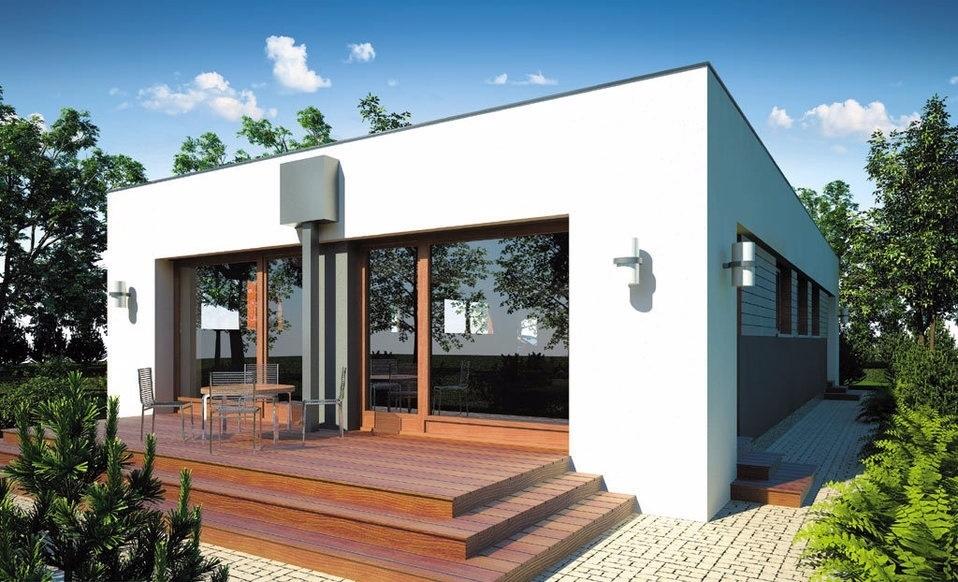 maison contemporaine en bois. Black Bedroom Furniture Sets. Home Design Ideas