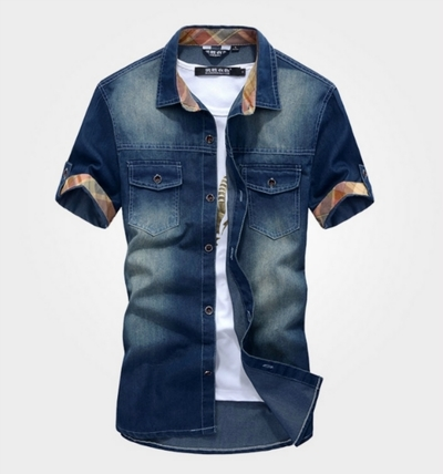 O d75 new men s casual jean wash vintage denim shirts 5de7