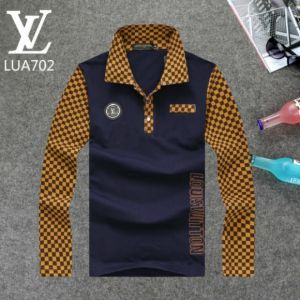 O luxury fashion lvt shirts men s long sleeve shirt 02 964c