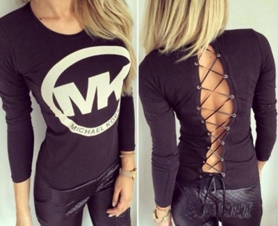 O new women s sexy michael kor long sleeve skirts t shirt 9989