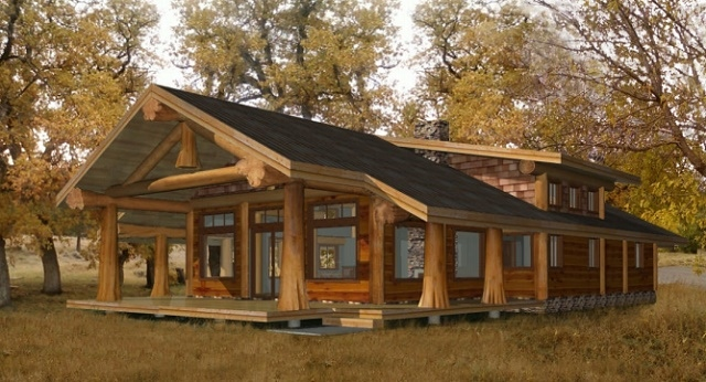 Chaletfuste.puzl on Pioneer Cabin Plans