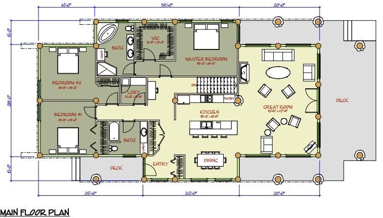 Chaletfuste.puzl on Log Cabin Floor Plans