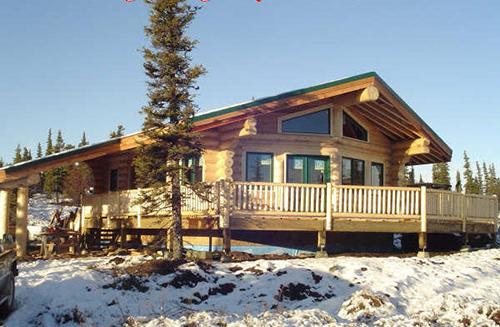 Chalet en fuste chalet en rondin chalet en bois maison en rondin - Construction rondin de bois ...