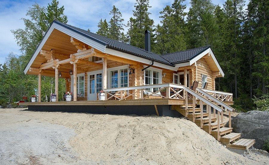 Chalet en fuste chalet en rondin chalet en bois maison en rondin - Chalet en rondin de bois ...