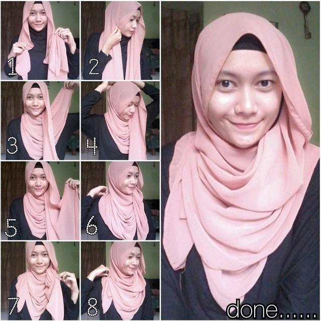 Tutorial Memakai Hijab Segi Empat Dan Pashmina Terbaru