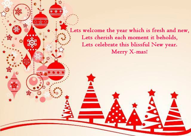 Christmas Messages - Wish Good Fortunes For Present & Future