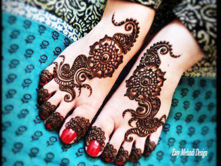New Feet Mehndi Designs : Feet mehndi designs