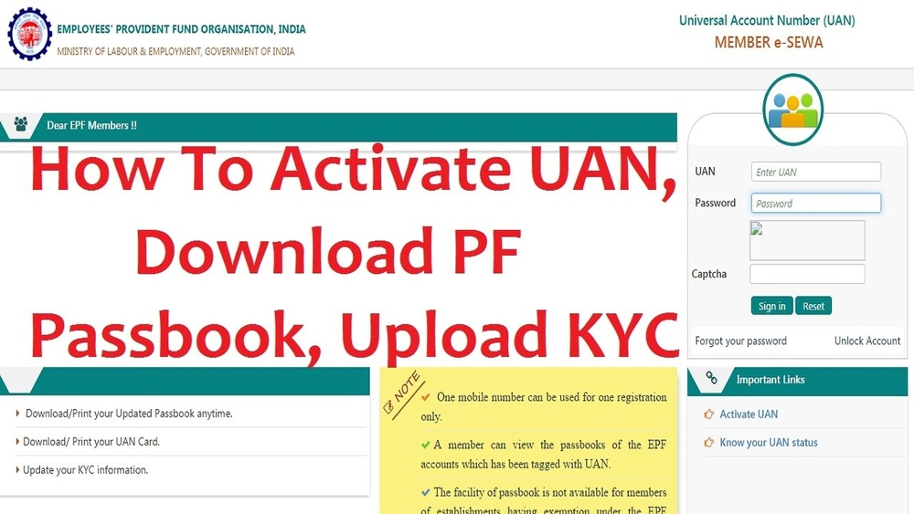 EPFO / EPF Balance with or without UAN Number Passbook