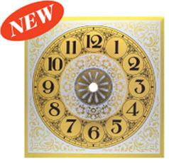 Clock_Parts_New_Brushed_Gold_Metal_Arabic_Clock_Dial