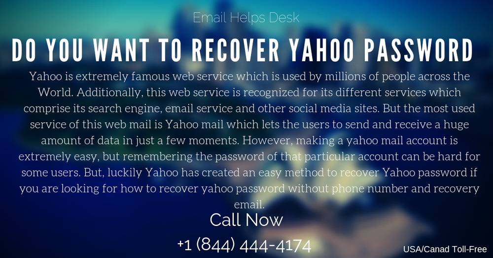 how to recover the yahoo email password