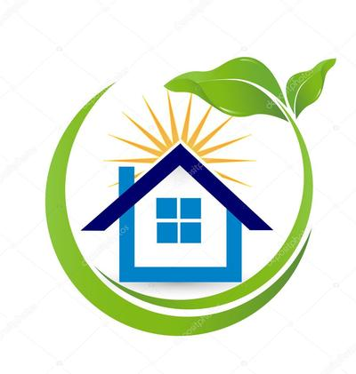 Depositphotos 76706419 stock illustration house sun and leaf real