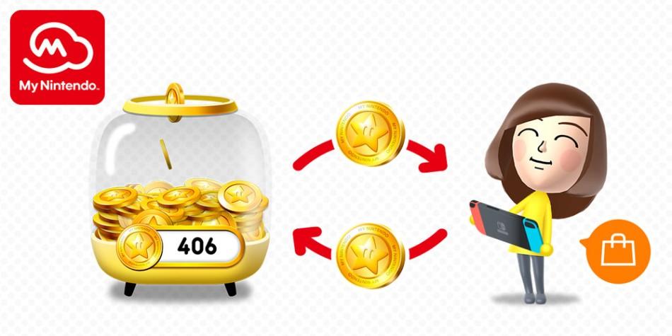 redeem Nintendo gold coins