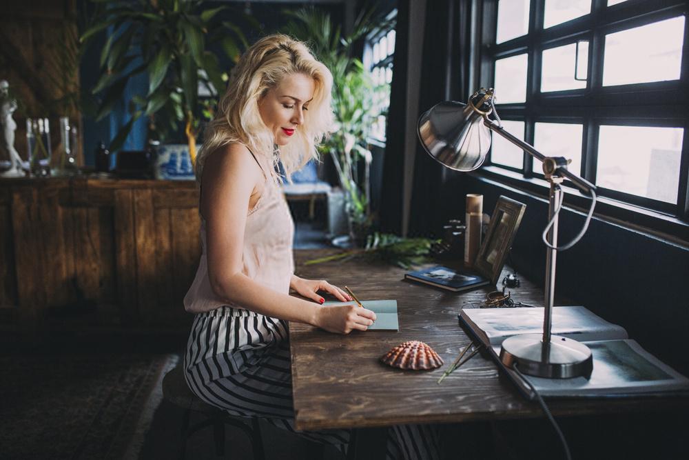 Woman Writing Book