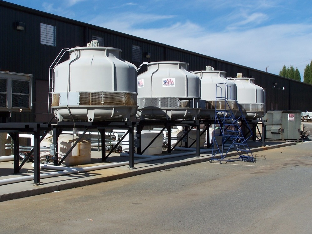 American-Chillers-Cooling-Towers-Multiple-Towers-Installation