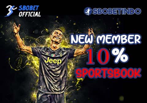 Bonus New Member 10% Sportsbook