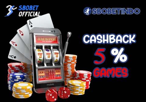 Cashback 5% Games