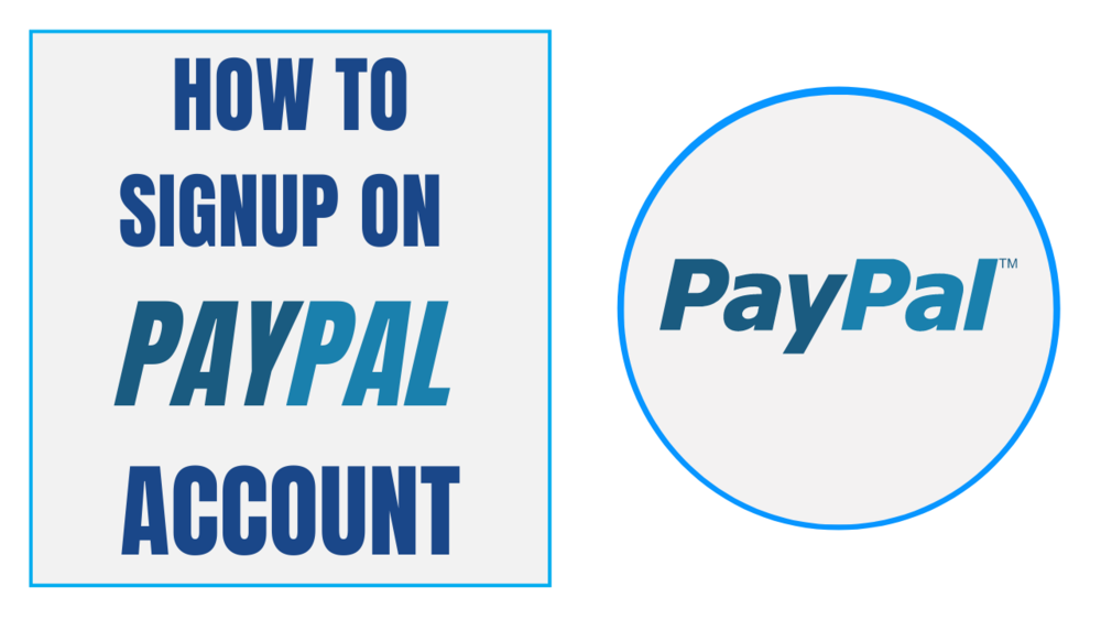 Sign up on PayPal